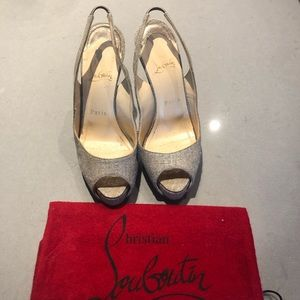 Christian Louboutin open toe pumps